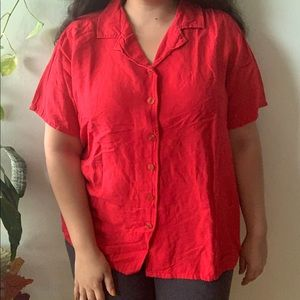 Avenue Red Collared Shirt 18/20